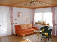 Ferienwohnung - Wohnzimmer Küche im Bayerischen Wald