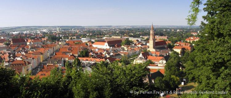 Top Sehenswürdigkeiten in Landshut Blick von Burg Trausnitz