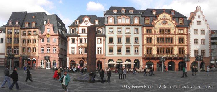 Attraktionen in Mainz Sehenswürdigkeiten Altstadt Marktplatz