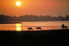 Sonnenuntergang in Schleswig-Holstein Romantik Flitterwochen