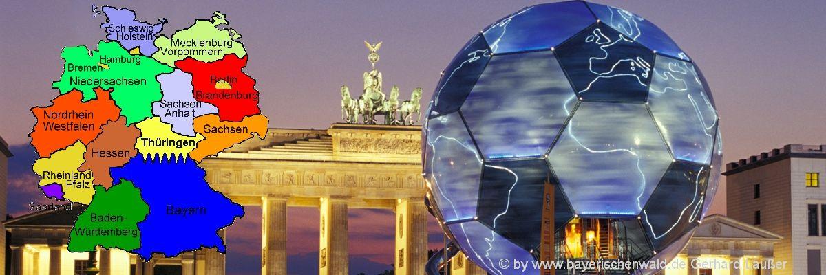 Bundesländer in Deutschland Infos, Karte und Sehenswürdigkeiten